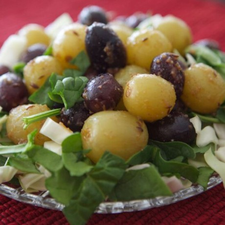 Oven Roasted Grapes with Sizzled Cumin