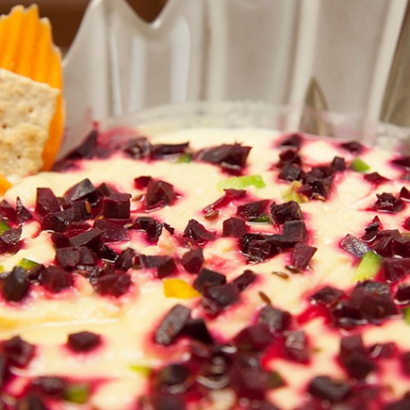 Roasted Beet Root with Chickpeas Dip