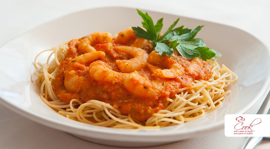 the rose record: wine night: shrimp & angel hair pasta