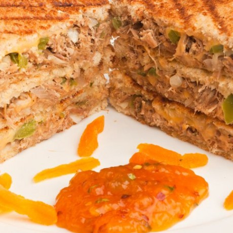 Hunter Beef Sandwich with Apricot Chutney