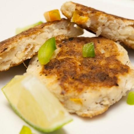 Fish and Baked Potato Kebabs