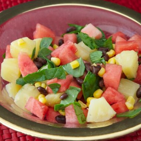 Watermelon and Spinach Salad Bowl