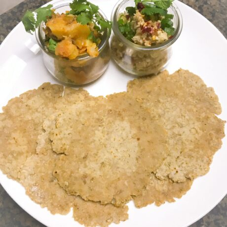Oatmeal – Whole Wheat Roti